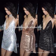 Aliexpress hot sell 2017 new design sexy women dress short summer sequins dress women wholesale