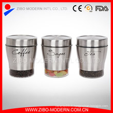 Hot Sale Stainless Steel Coating Modern Novelty Round Cookie Verre Verre et couvercles