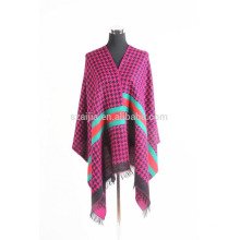 Fashion ladies plaid winter fake pashmna shawls
