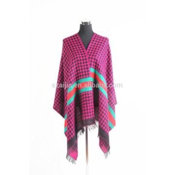 Fashion ladies damas faux manteau pashmna