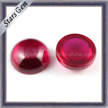 Synthetic 5# Ruby Round Caboch0n