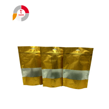 Wholesale Gold Silk Zipper Packing Bag with Window