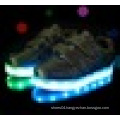 Unisex USB charging low cut LED light shoes for children