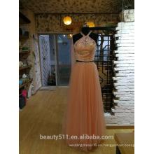 Partido Vestido de Baile Ivanka Style Celebrity Halter palabra de longitud vestido de noche P092