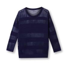 Designer sweater womens knit sweater pointelle ottoman pattern women crew neck sweater