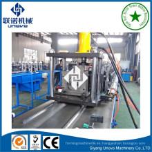 Alta calidad de almacén de almacenamiento de bastidor rodillo vertical que forma la máquina