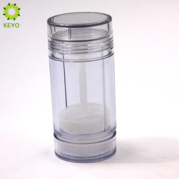 75g empty cosmetic packaging clear deodorant stick container