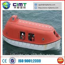 Barco salva-vidas fechado com pescoço de pescador de gravidade