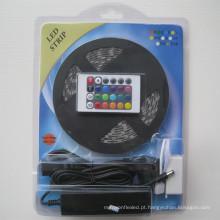 12 V à prova d 'água 60 pcs / m 5 M 24KEY ou 44KEY IR Controle Remoto 12 V 5A Adaptador De Alimentação IP65 SMD5050 RGB levou tira