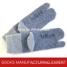 Chaussettes en laine d'hiver à deux orteils pour hommes