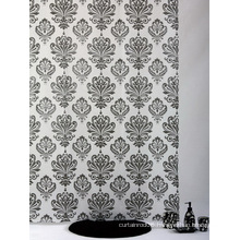 Dobby Shower Curtain, Damask Shower Curtain