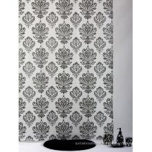 Cortina de chuveiro Dobby, cortina de chuveiro damasco