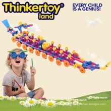 Brinquedos de plástico educativos DIY 3D Pirate Ship Puzzle