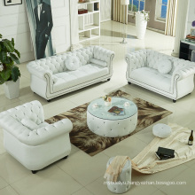 American Style New Classical Living Room Genuine Leather Corner Sofa Set
