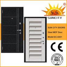 Nuevo estilo de seguridad MDF Steel Door Exterior (SC-A201)