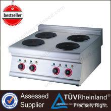 Heißer verkaufender Europa-Entwurf warm gewalzter Stahlplatte K017 Handels 4 Brenner-elektrischer Cooktop