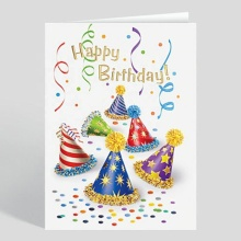 Popularny prezent Niestandardowe Happy Birthday Greeting Card