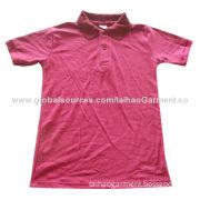 Boy's Short Sleeve Polo Shirt, Made of 60/40 CVC