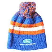 Beanie fábrica de suministros barato promocional bordado acrílico deportes de esquí de invierno Knit Slouch plegable personalizado Beanie Hat