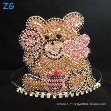 Mignon Teddy Bear Crown, Custom Tiara pour les filles