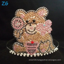 Cute Teddy Bear Crown, Custom Made Tiara For Girls