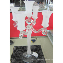 Frosting Glass Candle Holder with Five Posts...