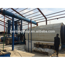equipamento de extração de óleo pneu de desperdício planta de pirólise reciclagem de resíduos de pneus / borracha / plástico abs pp pe produzir gasolina