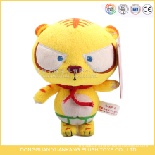 ICTI audits OEM/ODM factory toy sale plush tiger toy with red scarf