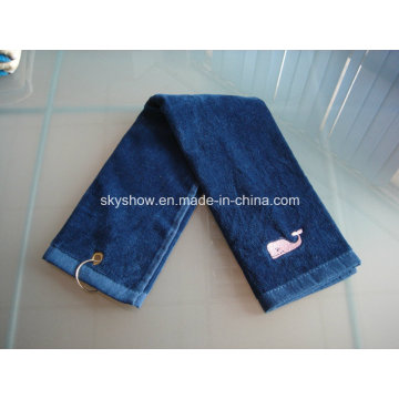 Embroidered Golf Towel with Hook (SST1008)