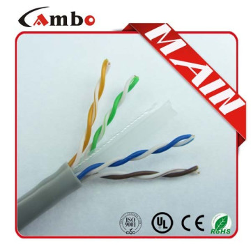 550MHZ BLUE PLENUM CABLE CAT6 Твердый 23AWG Bare Copper CMP UL Certificate 1000ft