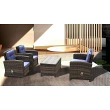 Sillas mesa de mimbre al aire libre función sofá