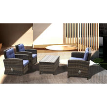 Outdoor Rattan Function Sofa Chairs Table Set