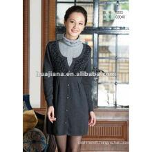 stylish women winter cashmere dress