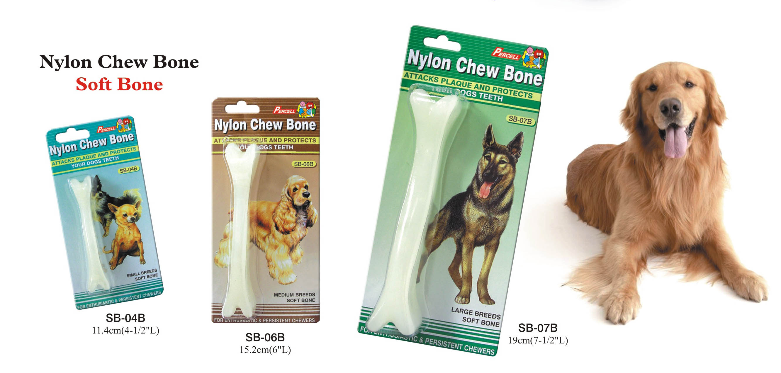 Classic Soft Chew Bone - Small, medium and large
