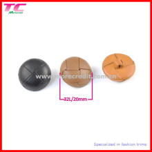 20mm Leather Shank Button in Different Color