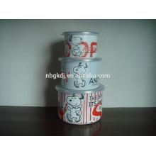 Melamin Geschirr Emaille Eisschüssel Sets mit PE