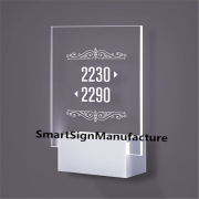 Custom Made Hotel Door Number Signboard Design