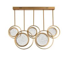 Modern Round Crystal Chandelier Led Ring Hanging Pendant Light