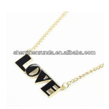 Nouveau produit LOVE Letter Pendant for Women Pendant Fabrication