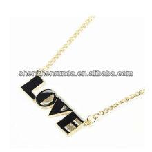 Новый продукт LOVE Letter Pendant для женщин Изготовление подвесок