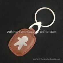 Promotionnel PU personnalisé en gros cuir porte-clés