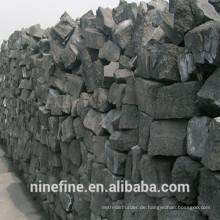 1,2-2,0% Flüchtige Bestandteile Gießereikoks mit hohem festem Kohlenstoffgehalt für Aluminiumgusslegierungen