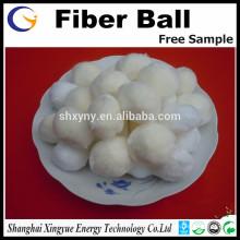 Médias filtrants modifiés de boule de fibre pour la filtration