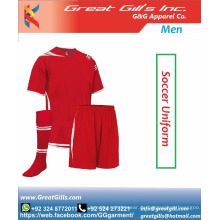 Bester Stoff 100% Polyester Fußball- / Fußballuniform