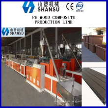 SHANSU WPC MACHINE PLASTIC WOOD PLASTIC COMPOSITE Línea de máquina / máquina composit de madera y plástico