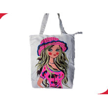 Cotton Canvas Supermarket Custom Reusable Shopping Bags With Heat Transfer Printing