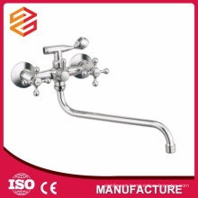 Polished Ceramic cartridge mixer hot cold water shower wall-mounted double handle shower mixer