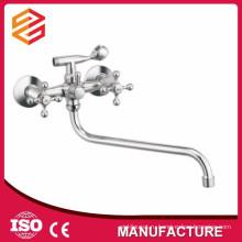 Полированный керамический картридж смеситель горячей и холодной воды душ настенный двойной ручкой смеситель для душа