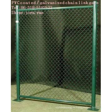 PVC покрынная / Гальванизированная звено цепи ворота