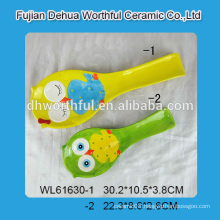 2016 popular style ceramic spoon with owl pattern